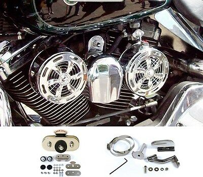 SD-320 Love Jugs Slot Chrome Engine Cooling Fans +VBM+FMK for Harley Motorcycles