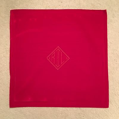 Ralph Lauren Home Monogram Velvet Cushion Cover - Red Size 50x50cm RRP £109.00