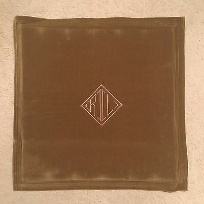 Ralph Lauren Home Monogram Velvet Cushion Cover - Tan Size 50x50cm RRP £109.00