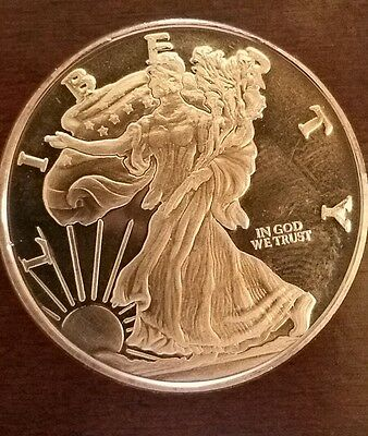 1 0Z. Usa Liberty Brilliant .9999 Fine Pure Copper Round