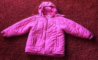Girls NIKE Pink Coat With Detachable Hood - Size EU 128-140 (approx 9-10years)