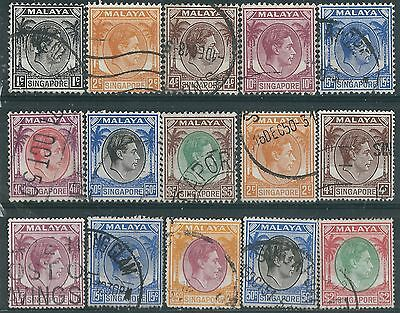 j098) Singapore. 1948/52. Used.  Small Collection. c£22+