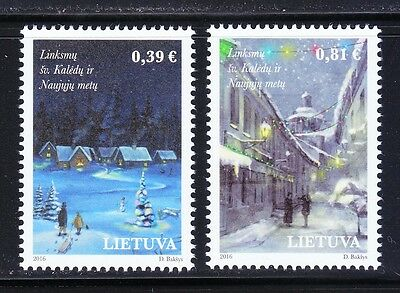 Lithuania 2016 Merry Christmas & Happy New Years ! MNH set
