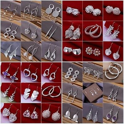 Wholesale Jewelry Silver Womens  Silver Earring Valentines Gift+925box