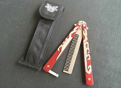 RED SCORPION Practice Comb BALISONG BUTTERFLY Trainer Knife