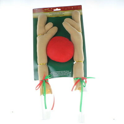 Christmas Car Costume Antler Decorating Kit With Red Nose Reindeer Truck SUV