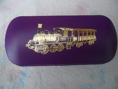 STEAM TRAIN 3 RAILWAY brand new Metal Glasses Case ideal gift for Christmas