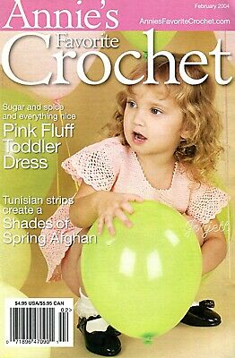 Annie's Favorite Crochet No. 127, February 2004 ~ 12 crochet patterns