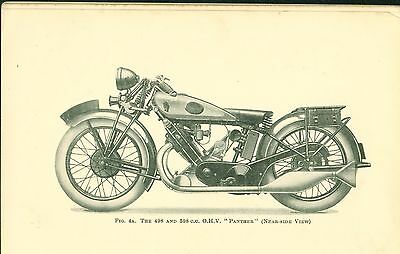 Vintage Motorcycle Book 'The book of the P & M' Panther by W C Haycraft 1929
