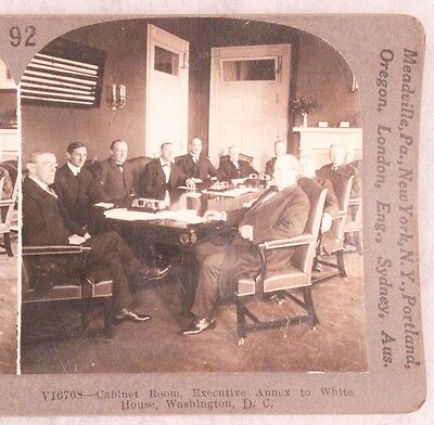 WWI Stereoview card:  President Wilson and His Cabinet