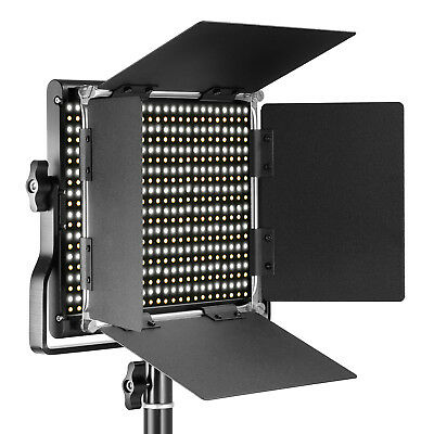Neewer Dimmable Bi-color LED with U Bracket and Barndoor Pro Video Light
