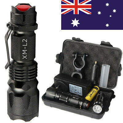 20000lm Shadowhawk Rechargeable Tactical Flashlight CREE L2 LED Zoomable Torch
