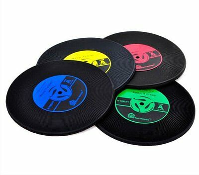 Vintage Vinyl Record CD Coasters Groovy Table Bar Drinks Mats Drinks Cup Mats UK