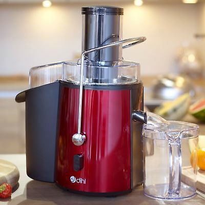 Dihl 850W Red Whole Fruit Vegetable Citrus Extractor Centrifugal Power Juicer