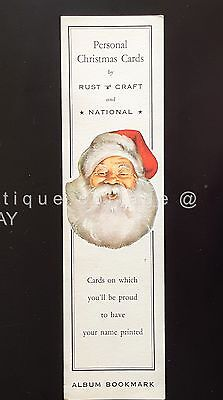 vintage antique RUST CRAFT and NATIONAL PERSONAL CHRISTMAS CARDS ALBUM BOOKMARK