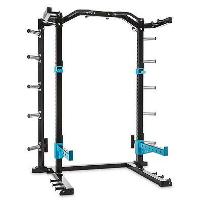 Capitals Sports Power Rack Multi Gym Home Fitness J Cups Spotter Blue Steel New