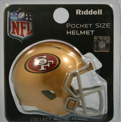 NEW NFL American Football Riddell SPEED Pocket Pro Helmet SAN FRANCISCO 49ers
