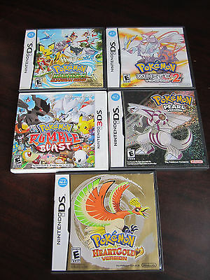 LOT OF 5 POKEMON Nintendo DS CASES & MANUALS Only NO GAMES !!