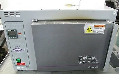 Barnstead Thermolyne F62735 Oval Muffle Furnace Oven 1000°C 120VAC 12.4A 1488W