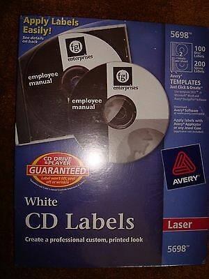 Avery Cd Labels White 5698