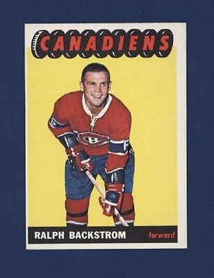 1965-66 TOPPS #73 RALPH BACKSTROM (NMMT) Montreal Canadiens !!