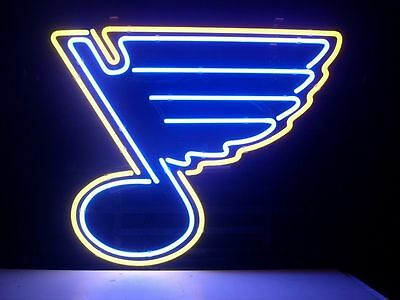 New St Louis Blues Nhl Hockey Real Glass Neon Light Beer Bar Sign From Usa