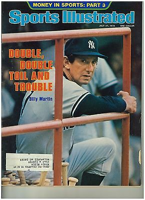 Aug 31 1978 issue of Sports illustrated Yankee's Billy Martin Cover