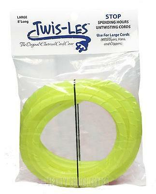 Twis-Les Electrical Cord Cover & Detangler - NEON YELLOW