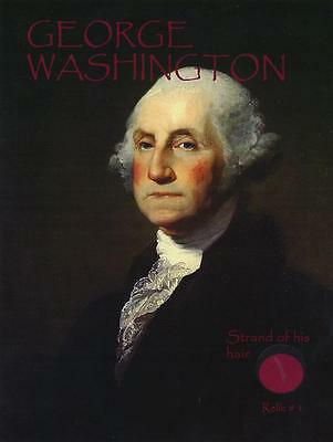 George Washington- Strand of His Hair on a Relic Card