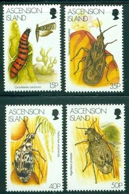 Ascension Scott #692-695 MNH Insects Bugs Beetles Fauna CV$10+