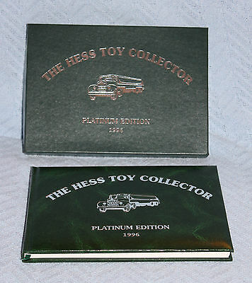 1996 Hess Toy Collector Book Platinum Edition New Condition