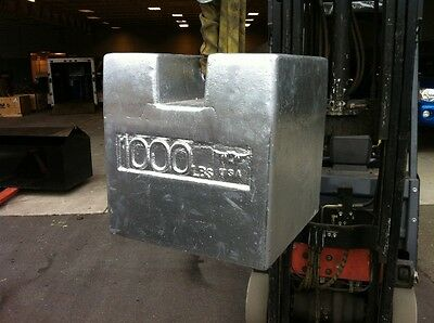 1000lbs Cast Iron Grip Handle Calibration test weight scale check 1000 LBS