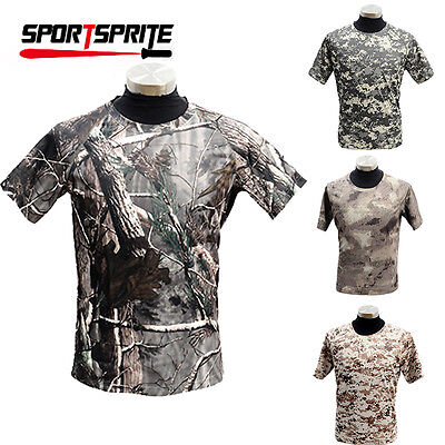 Camouflage Tactical Military Quick Drying Moisture Wicking T-Shirt Shirt S-XXL