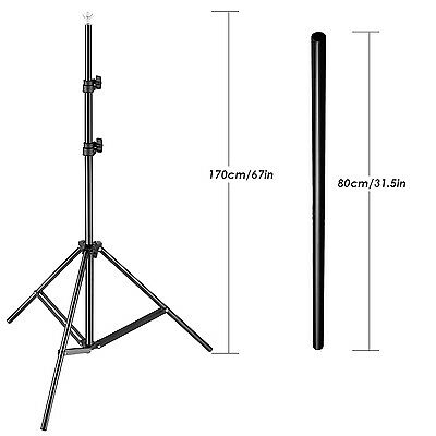 """Neewer 31-67"""" Adjustable Tripod and 31.5"""" Boom Arm with 2 Clamps for Photography"""