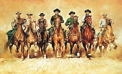 renato casaro fine art picture print poster the magnificent seven 7 frm painting