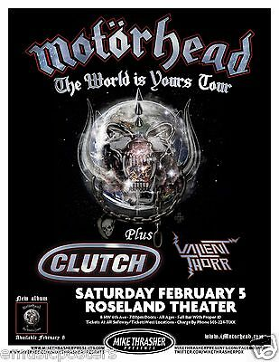 """Motorhead / Clutch """"the World Is Yours Tour"""" 2011 Portland Concert Poster"""