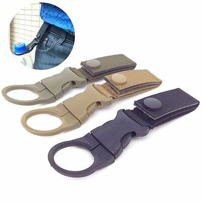 Water Bottle Holder Clip Outdoor Camping Hiking Tactical Carabiner Belt Buckle