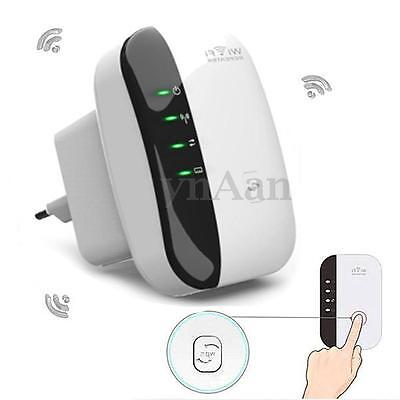 300Mbps 2.4GHz Signal Extender Booster Wireless-N AP Range 802.11 Wifi Repeater
