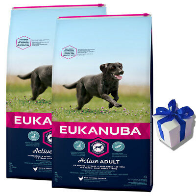 2 x 15 kg eukanuba adult large breed huhn hundefutter f r gro e rasse geschenk eur 71 49. Black Bedroom Furniture Sets. Home Design Ideas