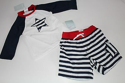 Gymboree Baby Boys Boy Swim Suit Bottoms Trunks Top NWT Size 6-12 Months Set