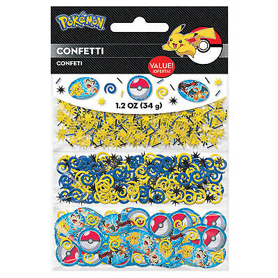 POKEMON Pikachu & Friends Children's Party Confetti Table Spinkles Triple Pack