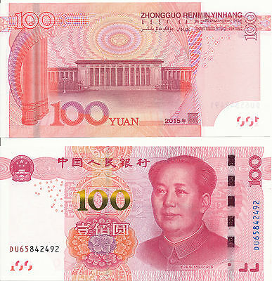 China - 100 Yuan 2015 UNC - Pick New