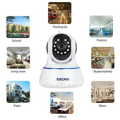 ESCAM QF002Wifi Night Vision Home Office IP Security Surveillance Camera Monitor