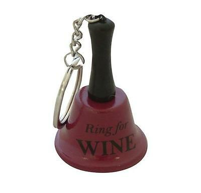 Ring For Wine Keyring Bell funny keychain office joke adult gift secret santa