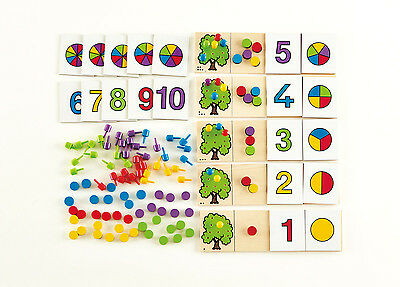 E6302 HAPE Equate Number Kids Counting Wooden Game [Home Education] Children 3Y+