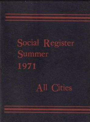 1971 Social Register Summer  All Cities New York Excellent Condition