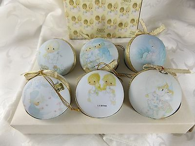 S. Butcher Box 6 Precious Moments Christmas Light Bulb Covers 1990 Enesco
