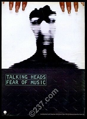 1979 Talking Heads Fear of Music album release trade print ad