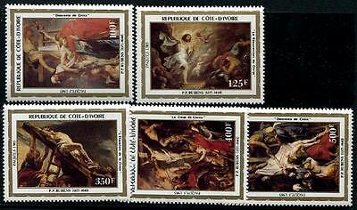 IVORY COAST Sc.# 674-78 Easter Paintings Stamps