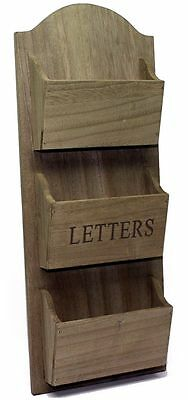 Rustic Wooden Wall Hanging Letter Holder Rack